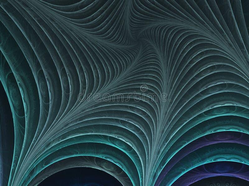 абстрактная произведенная фракталь 3d иллюстрация штока