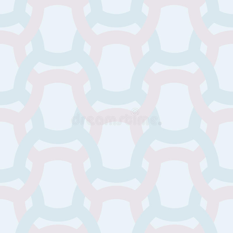 Абстрактная простая геометрическая безшовная картина вектора - entwined col иллюстрация вектора
