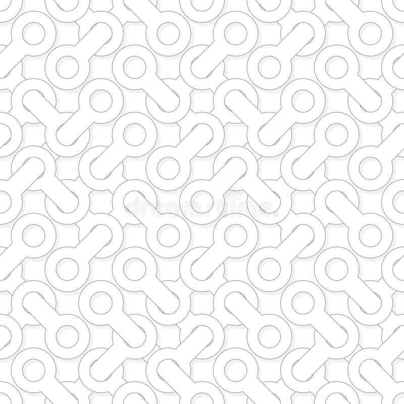 Абстрактная простая геометрическая картина вектора - entwined формы на wh бесплатная иллюстрация