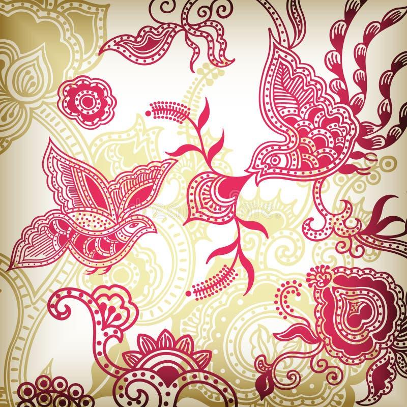 абстрактная птица 4 флористическая бесплатная иллюстрация