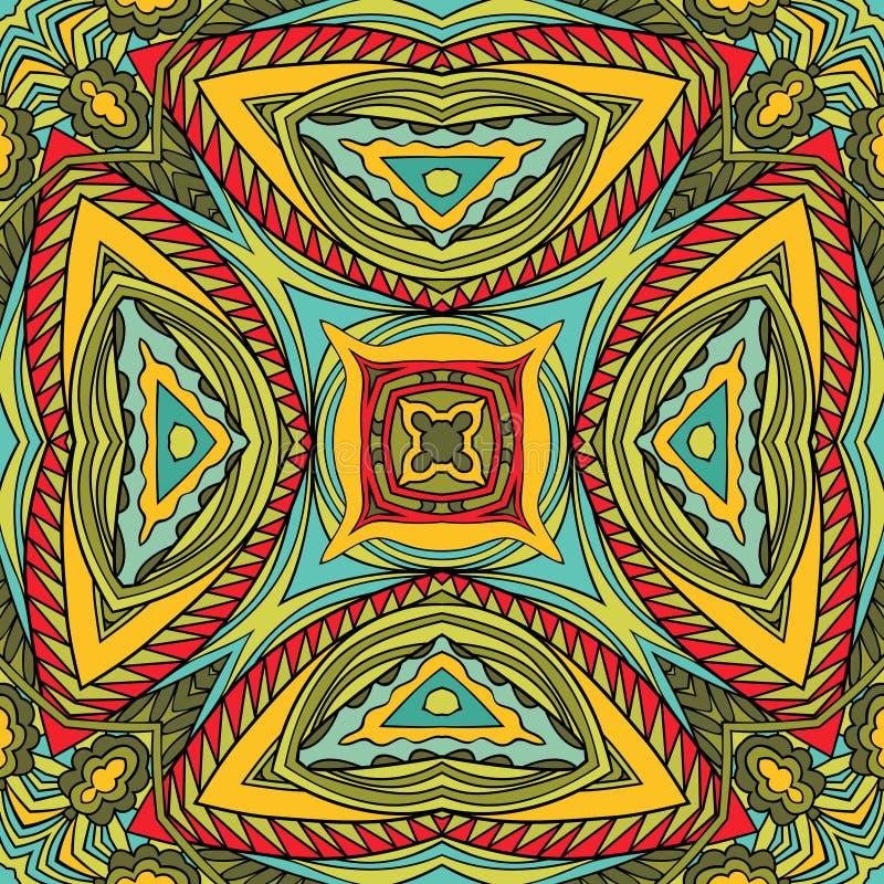 Абстрактная племенная безшовная картина иллюстрация вектора