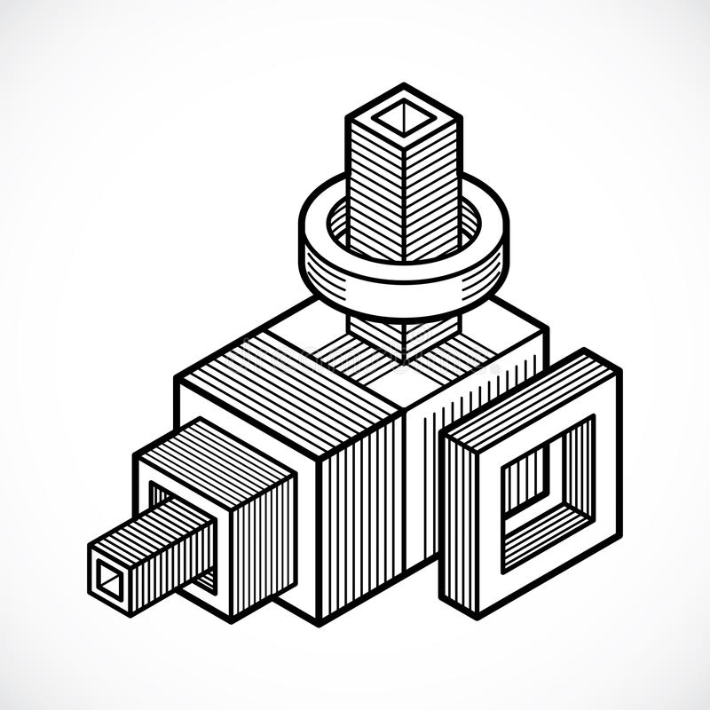 абстрактная равновеликая конструкция 3d, vector полигональная форма бесплатная иллюстрация
