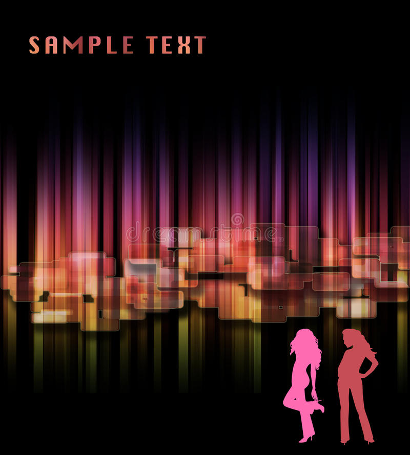 абстрактная радуга зарева диско предпосылки бесплатная иллюстрация