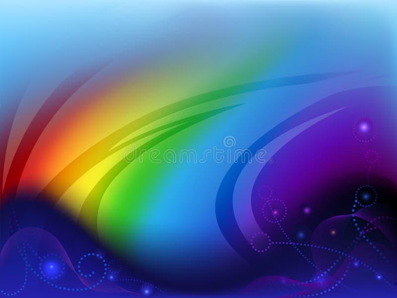 абстрактная радуга предпосылки иллюстрация вектора