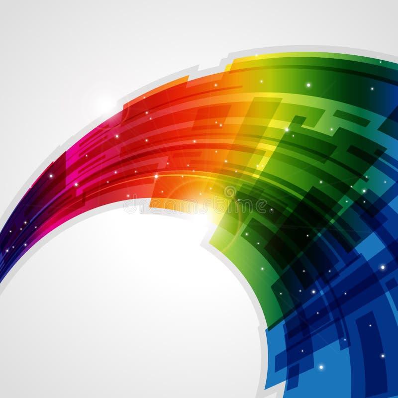 абстрактная радуга предпосылки иллюстрация штока