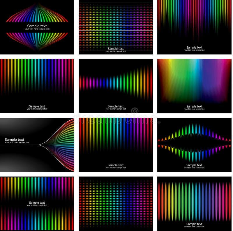 абстрактная радуга цвета собрания расшивы предпосылки