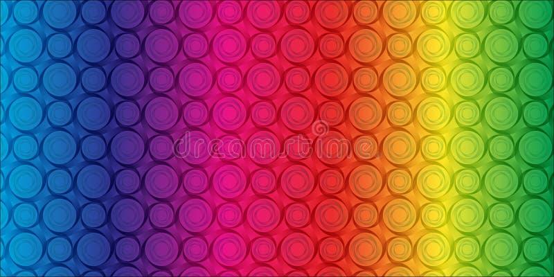 абстрактная радуга цветка иллюстрация штока