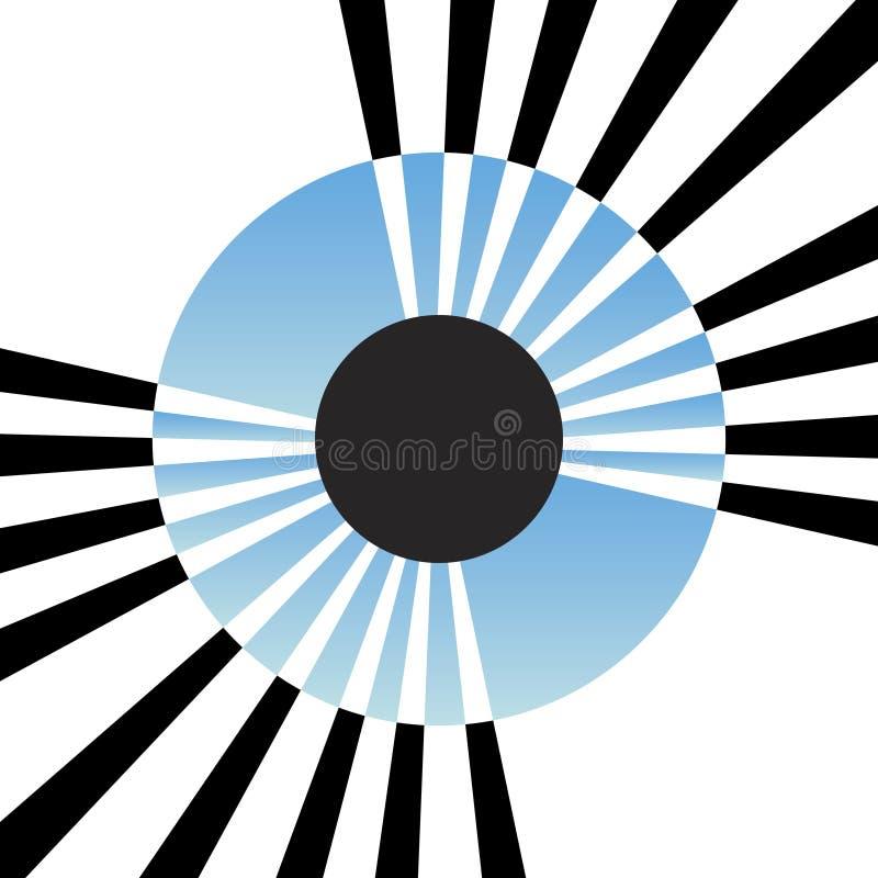 Download абстрактная радужка глаза иллюстрация вектора. иллюстрации насчитывающей ретро - 6867547