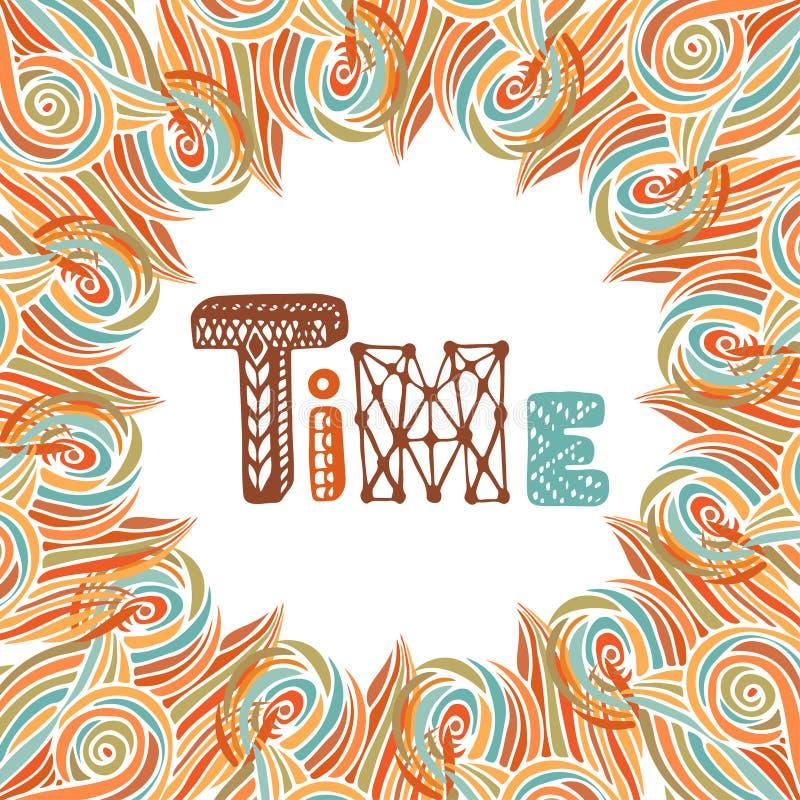 абстрактная рамка осени Литерность doodle времени бесплатная иллюстрация