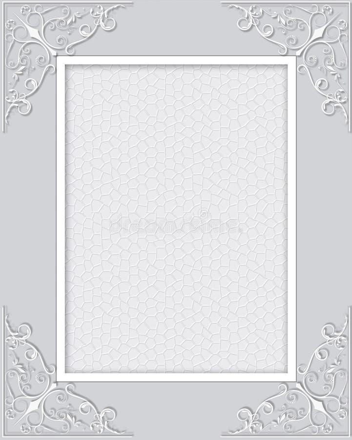 Абстрактная рамка шнурка с предпосылкой ornamental свирлей иллюстрация вектора