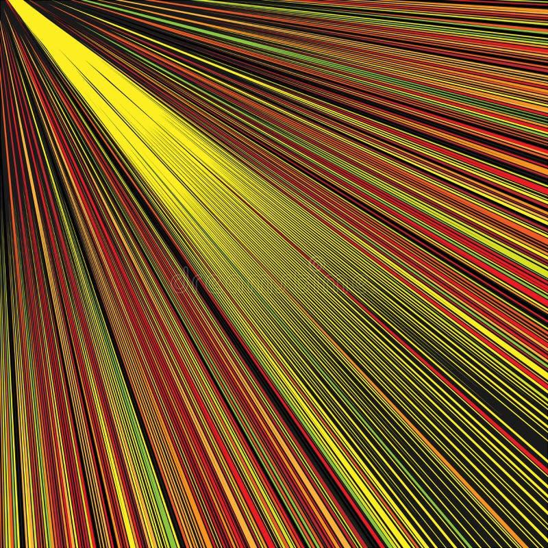 Абстрактная раскосная золотая предпосылка лучей бесплатная иллюстрация