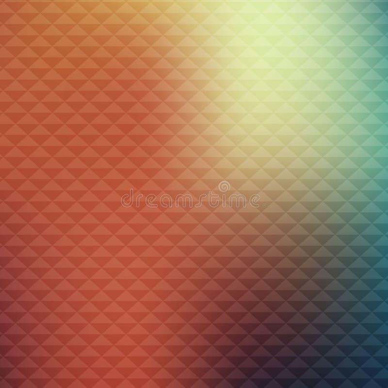 Абстрактная ретро картина осени Предпосылка красочного градиента осени триангулярная, вектор бесплатная иллюстрация