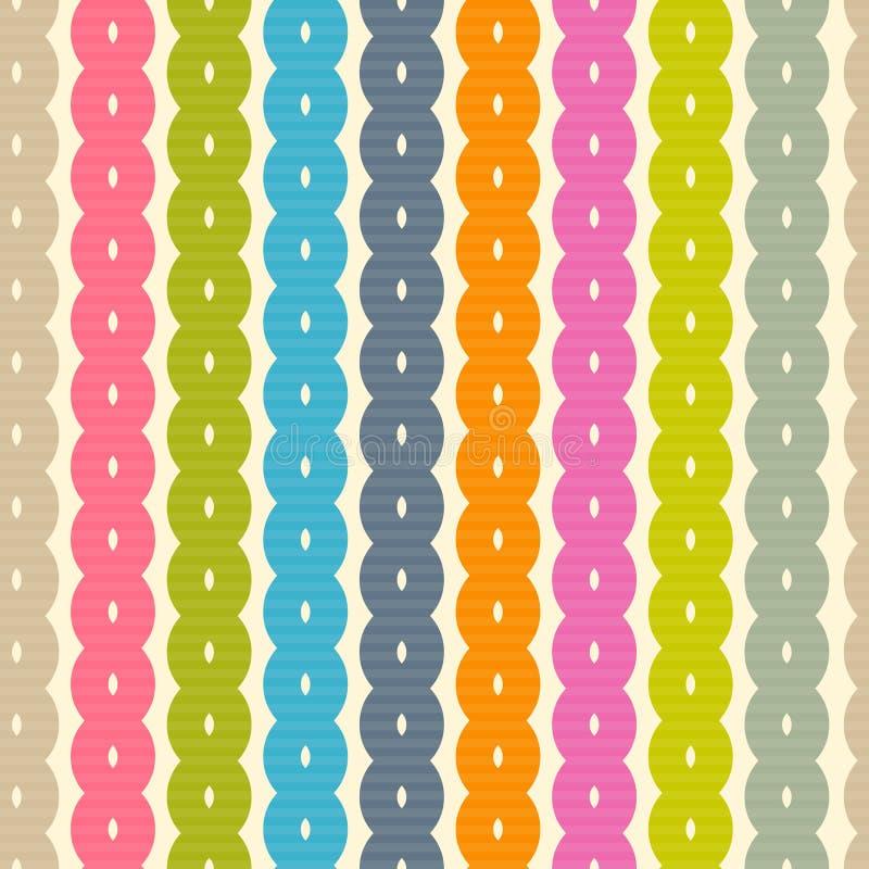 Абстрактная ретро красочная безшовная предпосылка бесплатная иллюстрация