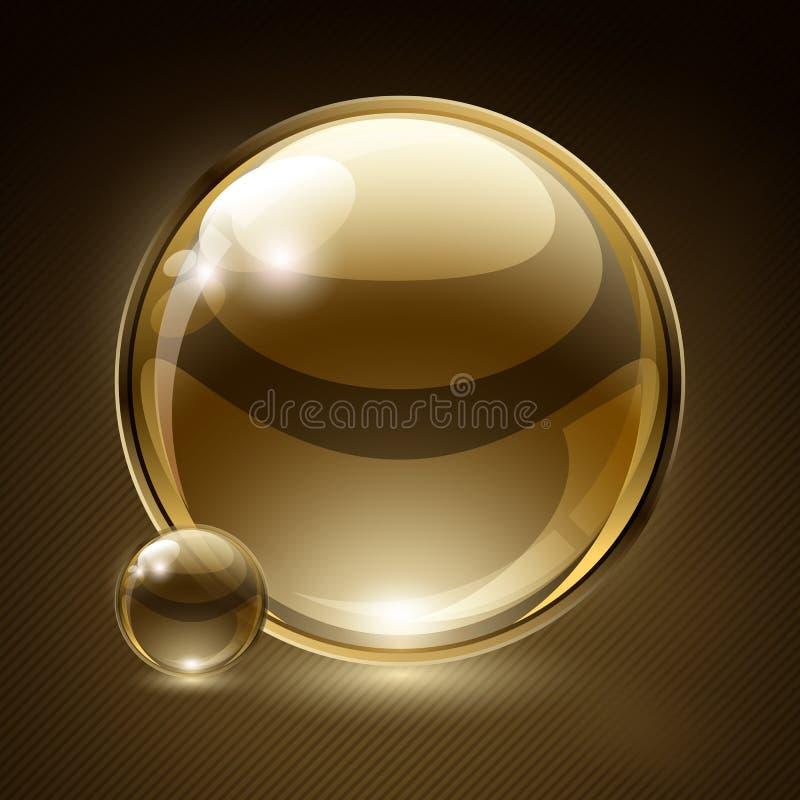 абстрактная речь стекла пузыря предпосылки иллюстрация вектора