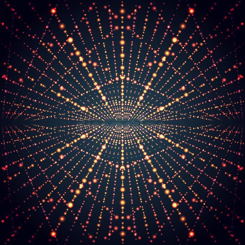 Абстрактная решетка безграничности перспективы с накалять бесплатная иллюстрация