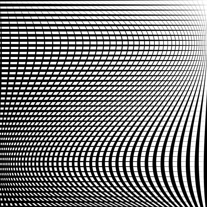 Download Абстрактная решетка, картина сетки с эффектом искажения Иллюстрация вектора - иллюстрации насчитывающей скачками, вакханические: 81803565