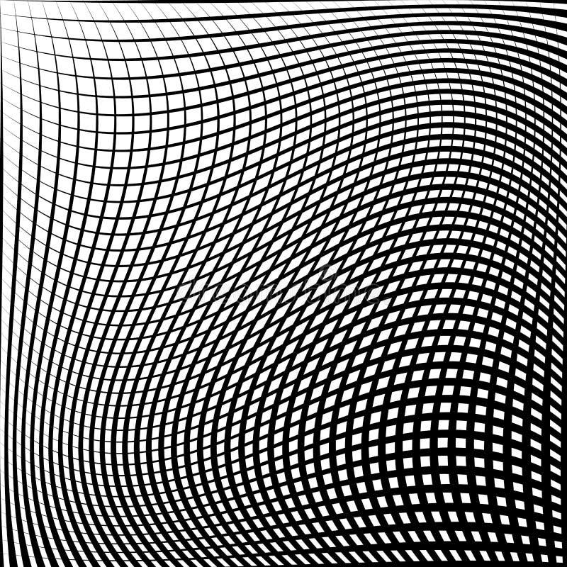 Download Абстрактная решетка, картина сетки с эффектом искажения Иллюстрация вектора - иллюстрации насчитывающей бесцветно, оптически: 81803602