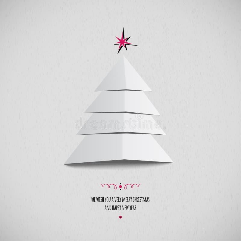 абстрактная рождественская елка карточки бесплатная иллюстрация