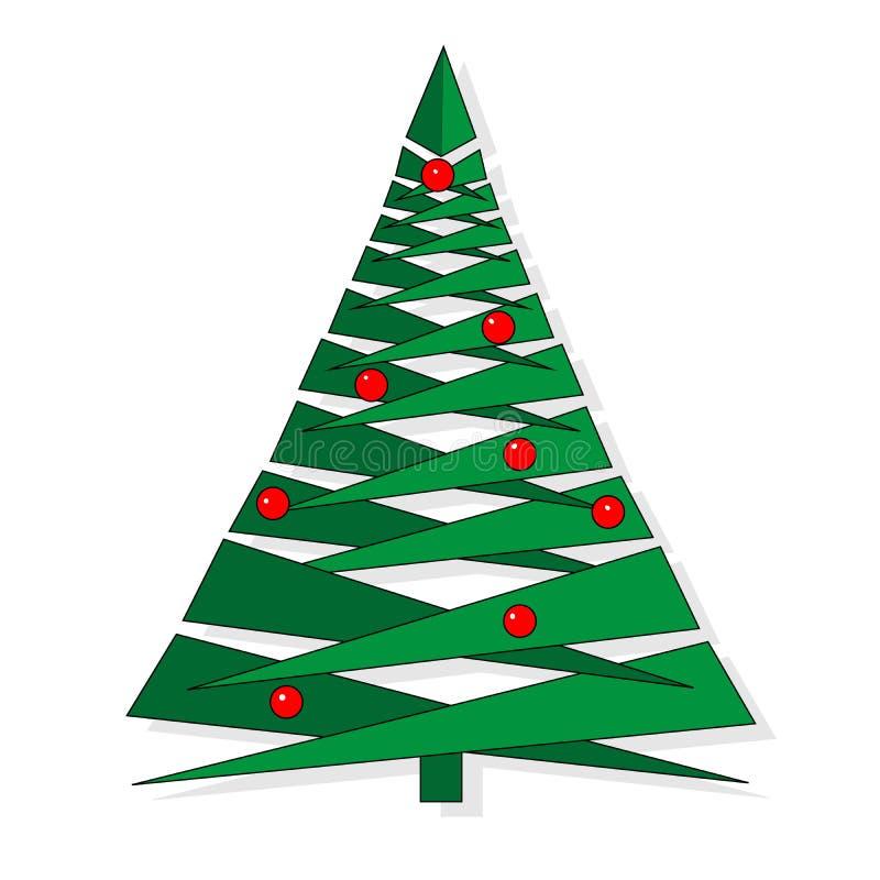 Абстрактная рождественская елка сделанная зеленых треугольников Предпосылка поздравительной открытки рождественской елки Illustra иллюстрация вектора