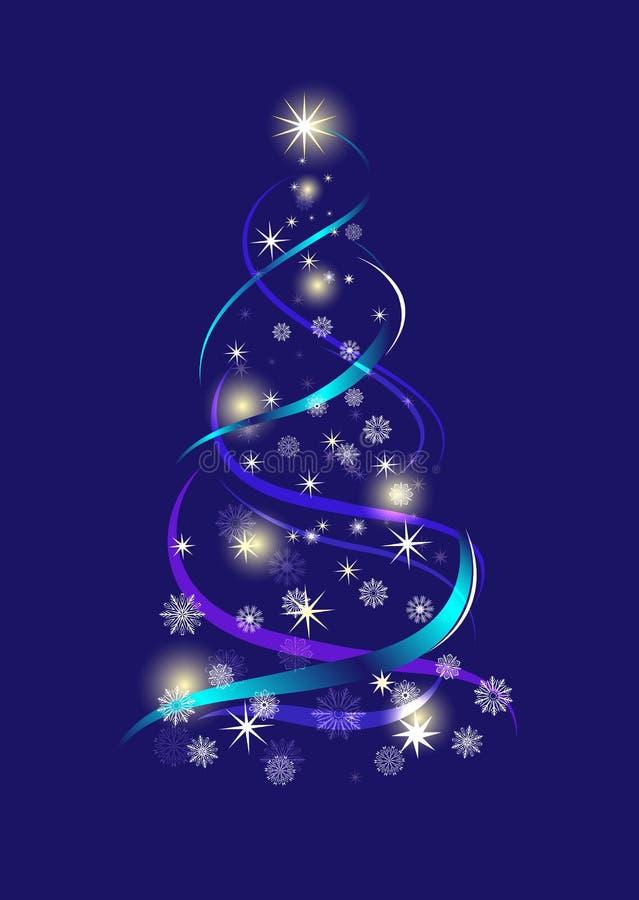 абстрактная рождественская елка иллюстрация штока