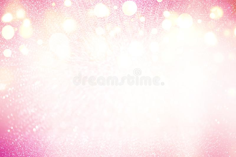 Абстрактная розовая предпосылка градиента с сияющими накаляя светами бесплатная иллюстрация