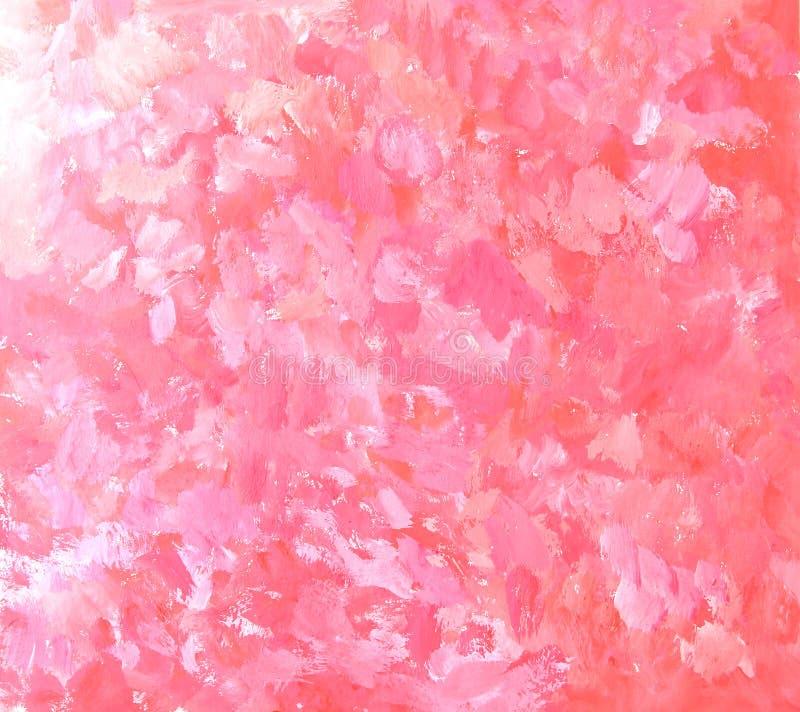 Абстрактная розовая предпосылка картины brushstroke иллюстрация вектора