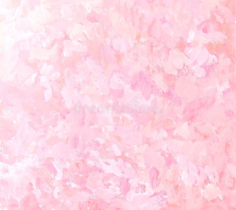 Абстрактная розовая предпосылка картины brushstroke иллюстрация штока