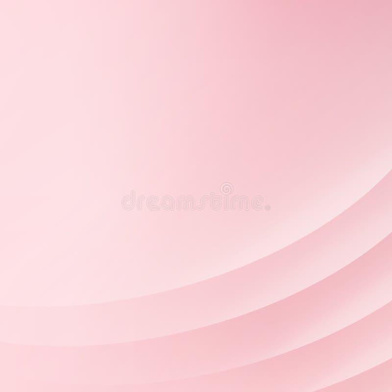 Абстрактная розовая предпосылка с кривой выравнивает ровный розовый свет, иллюстрация вектора