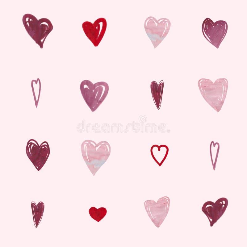 Download Абстрактная романтичная картина предпосылки Сердце акварели Стоковое Фото - изображение насчитывающей акварель, картина: 40579942