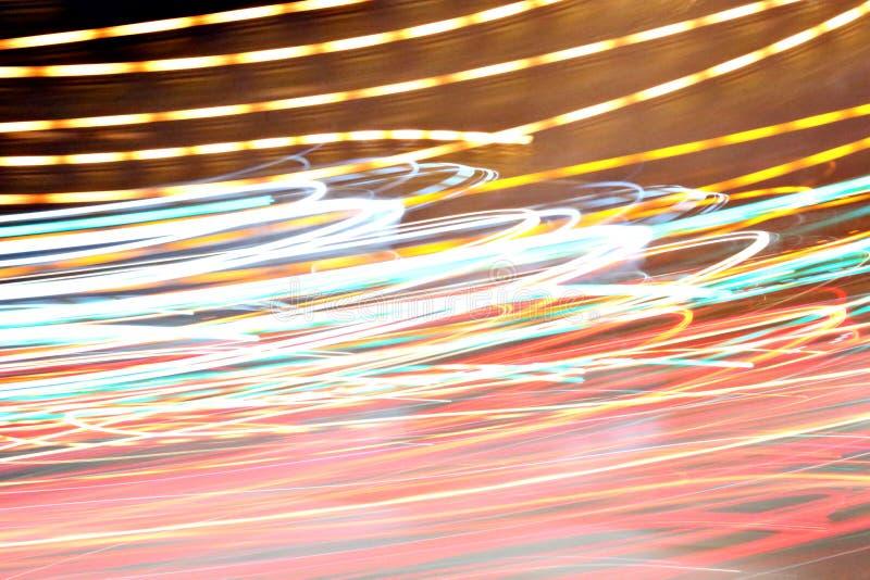 Абстрактная светлая предпосылка на движении стоковая фотография rf