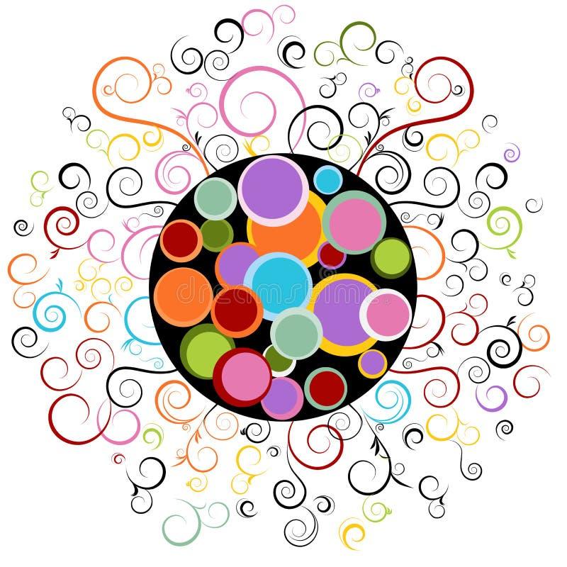 абстрактная свирль элемента конструкции иллюстрация вектора
