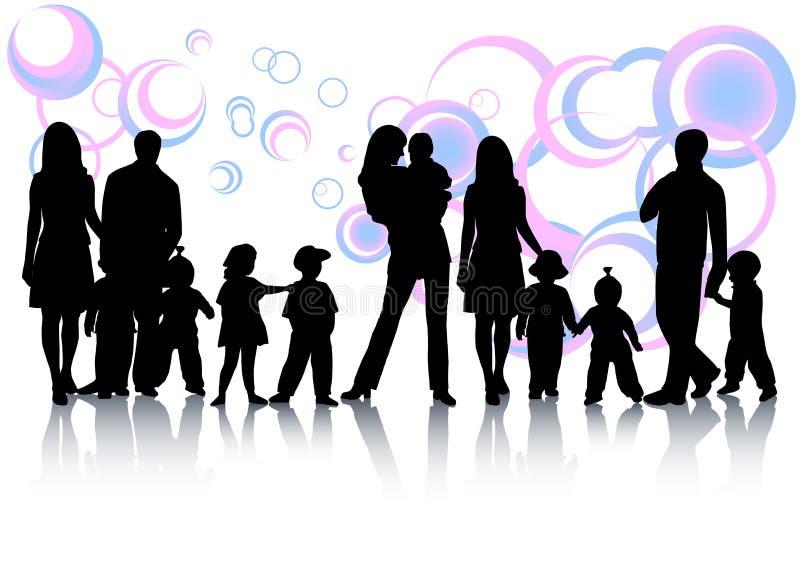 абстрактная семья Стоковая Фотография RF