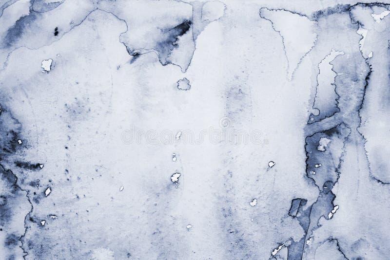 Абстрактная серая акварель на бумажной текстуре как предпосылка стоковая фотография