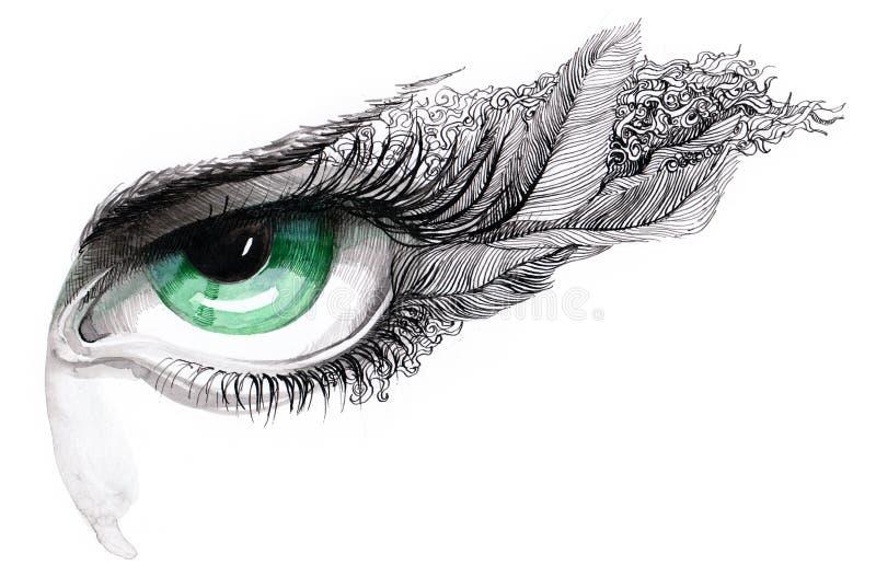 абстрактная серия человека глаза c бесплатная иллюстрация