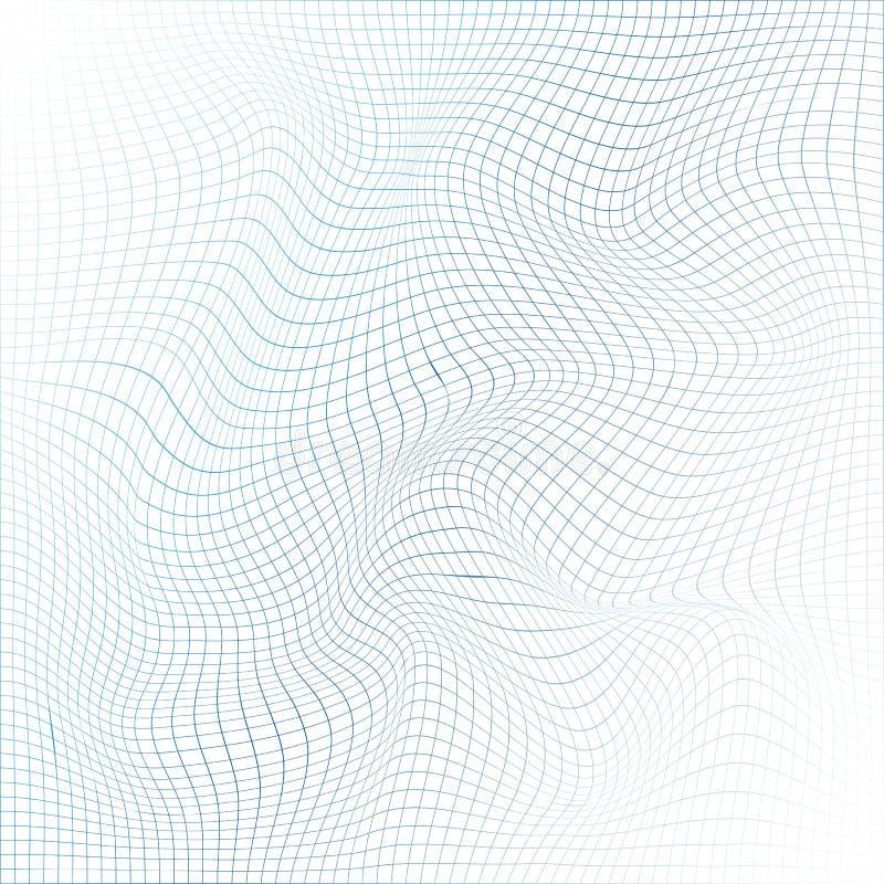 Абстрактная сетка 3D Поверхность цифров с линиями бесплатная иллюстрация