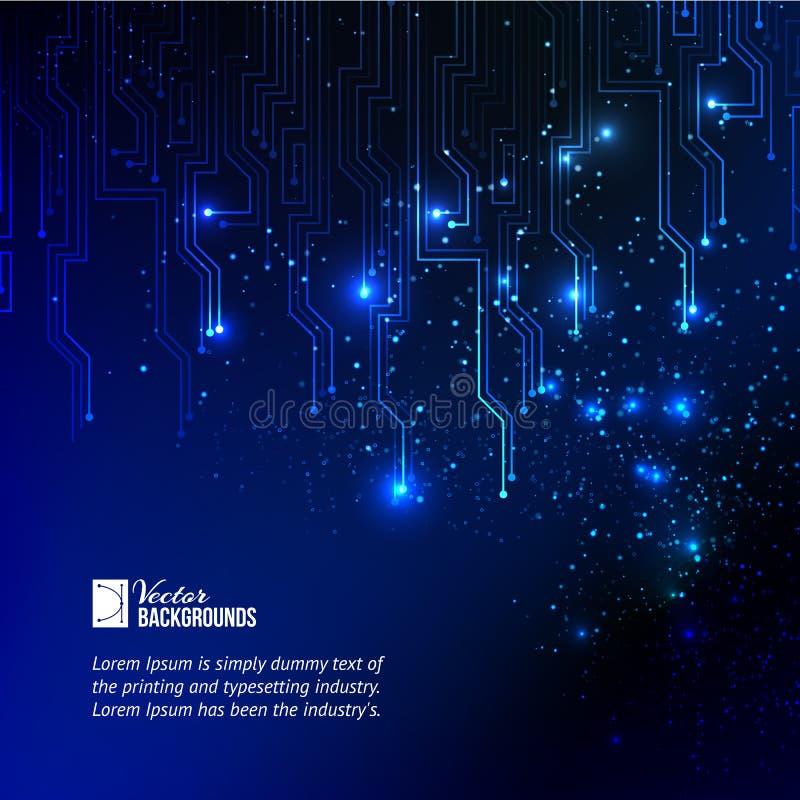 Абстрактная синь освещает предпосылку. бесплатная иллюстрация