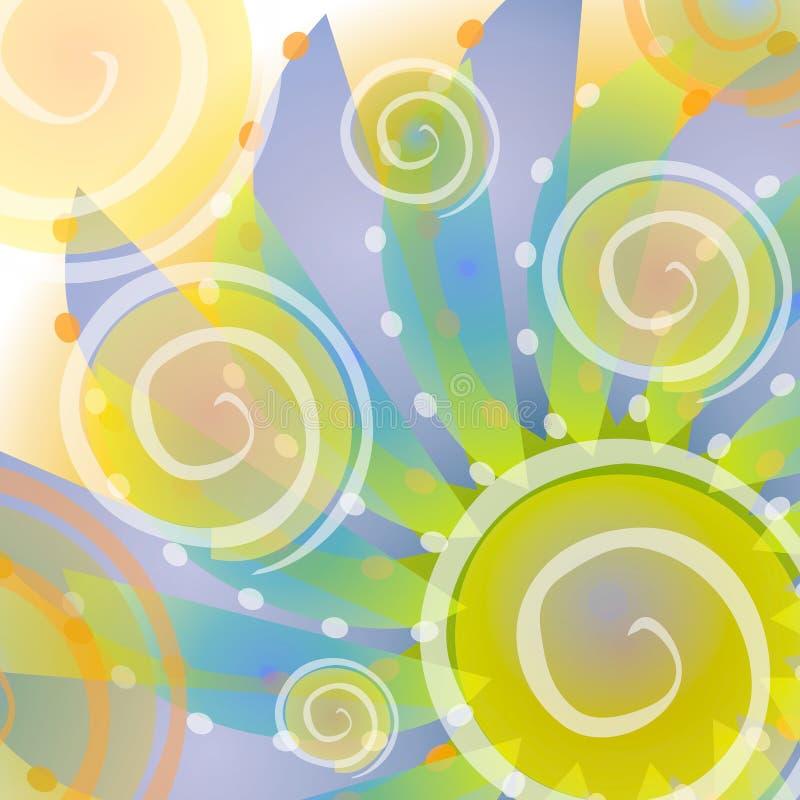 абстрактная синь ставит точки полька золота иллюстрация вектора