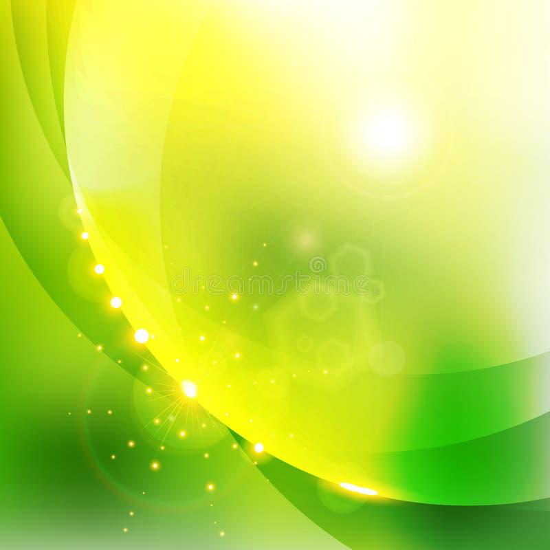 Абстрактная сияющая предпосылка зеленого цвета природы иллюстрация вектора
