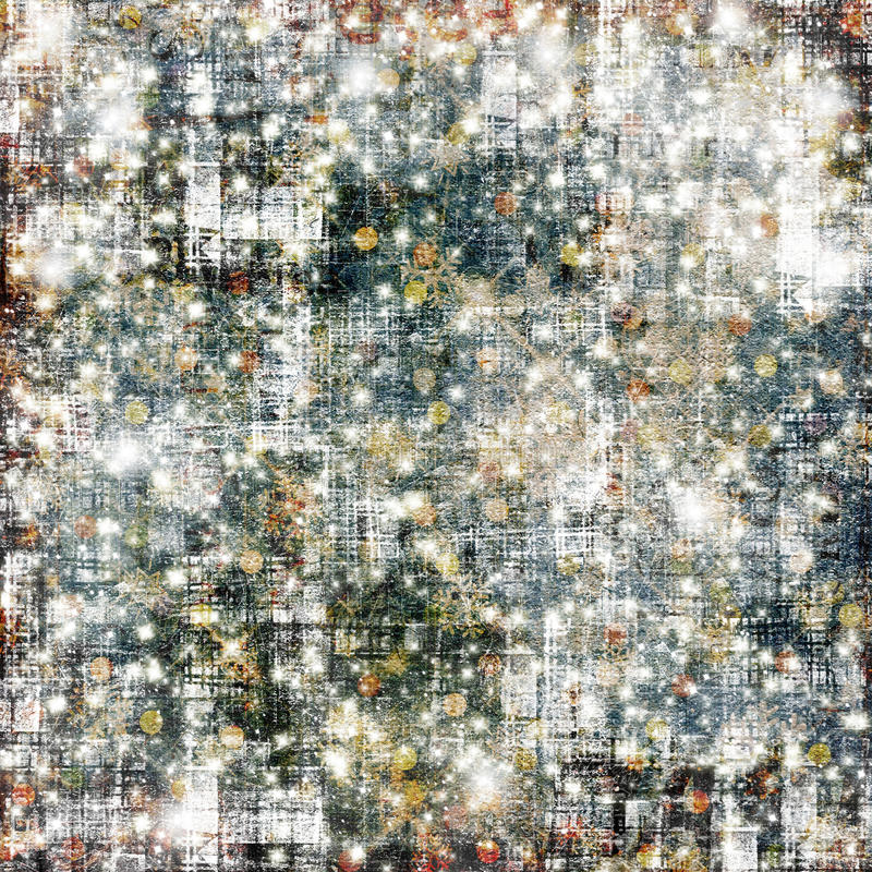 Абстрактная снежная предпосылка с снежинками, звездами иллюстрация вектора