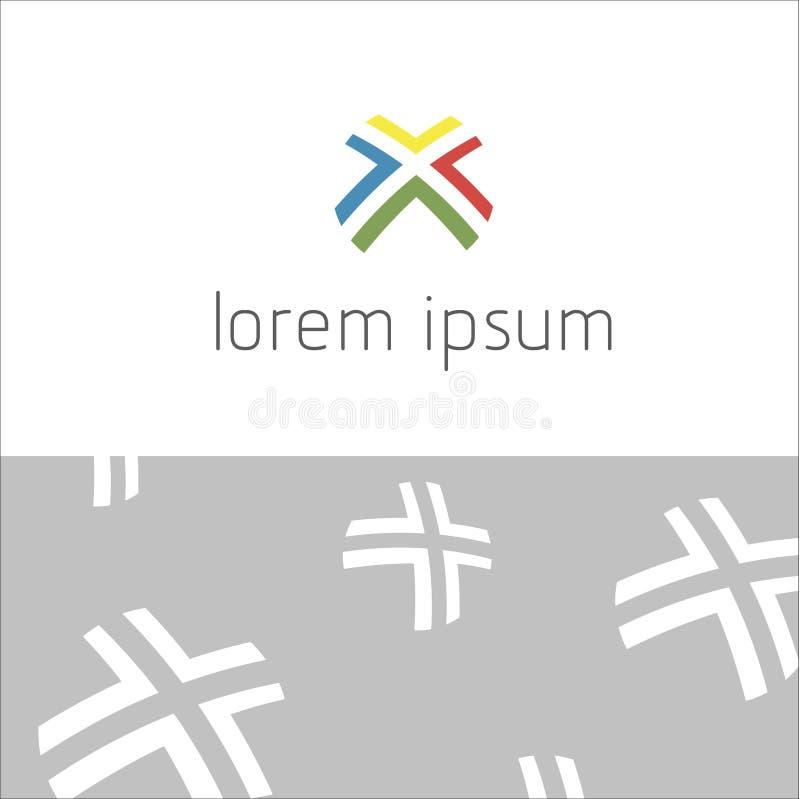 Абстрактная современная геометрическая предпосылка, логотип 4 иллюстрация вектора