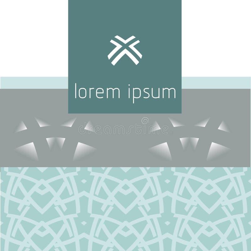 Абстрактная современная геометрическая предпосылка, логотип 4 бесплатная иллюстрация