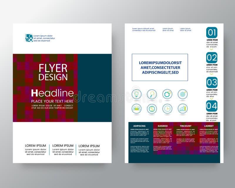 Абстрактная современная красочная квадратная предпосылка для шаблона вектора плана дизайна рогульки брошюры плаката в размере A4 иллюстрация вектора