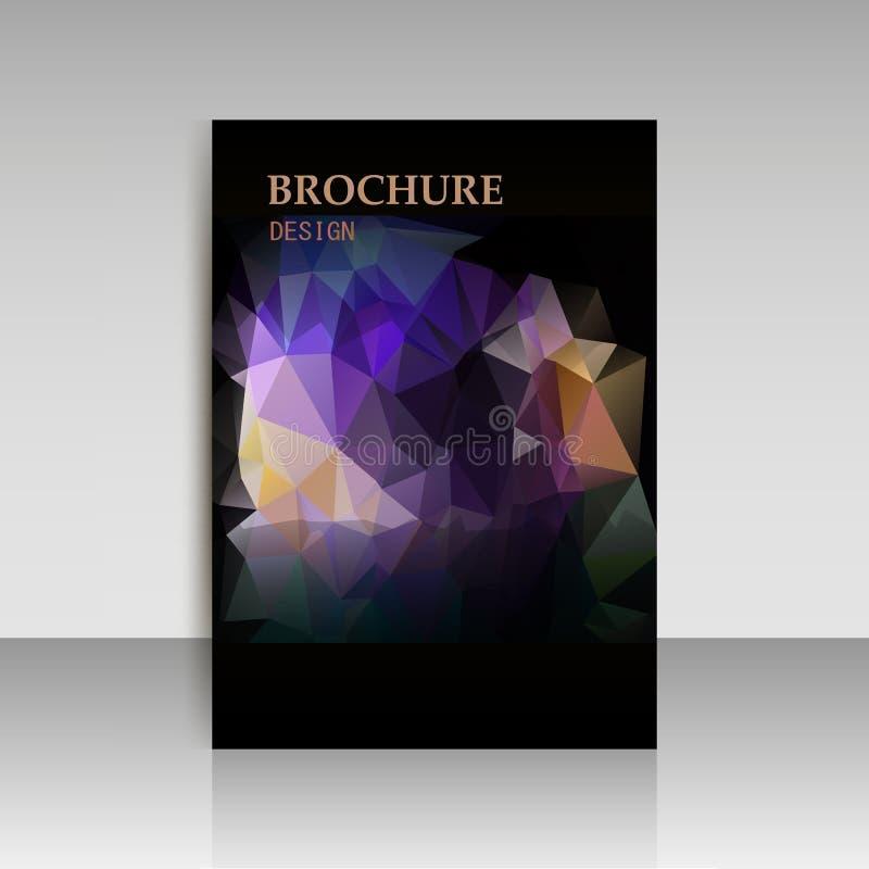 Абстрактная современная крышка, брошюра отчета, шаблон рогульки геометрический иллюстрация штока