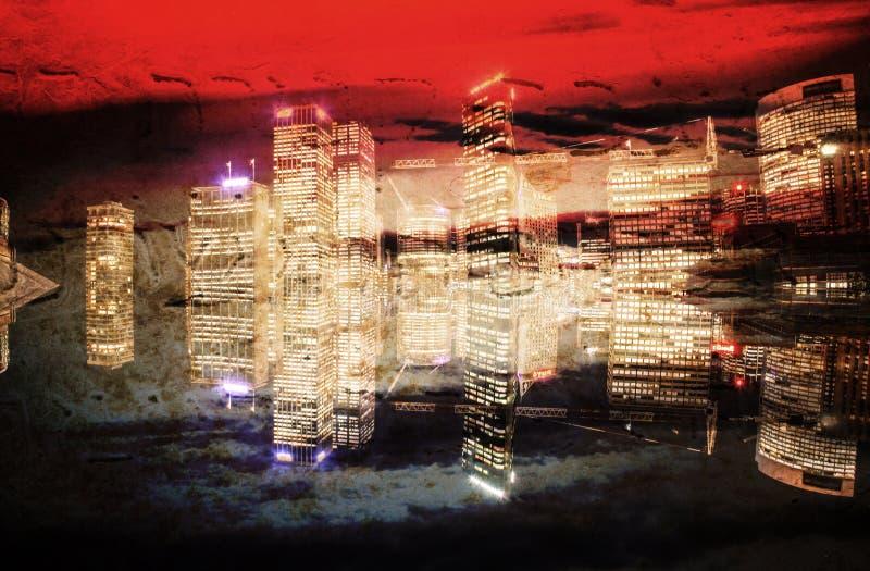 Абстрактная современная предпосылка города в цвете стоковые фотографии rf