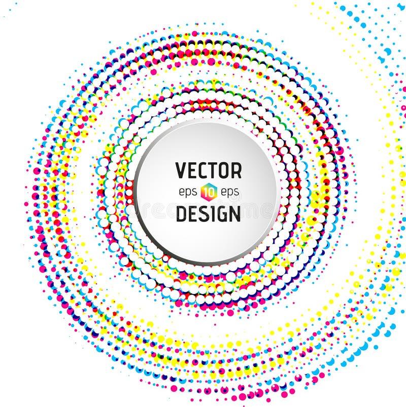Абстрактная спиральная предпосылка с красочными кругами бесплатная иллюстрация