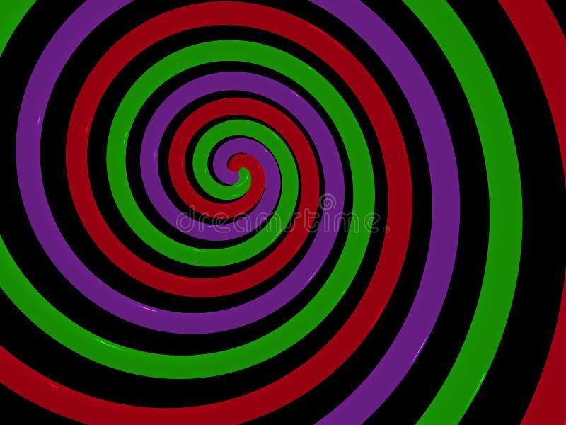 абстрактная спираль иллюстрация вектора