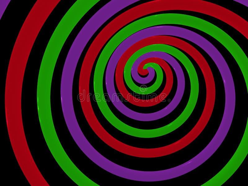 абстрактная спираль иллюстрация штока