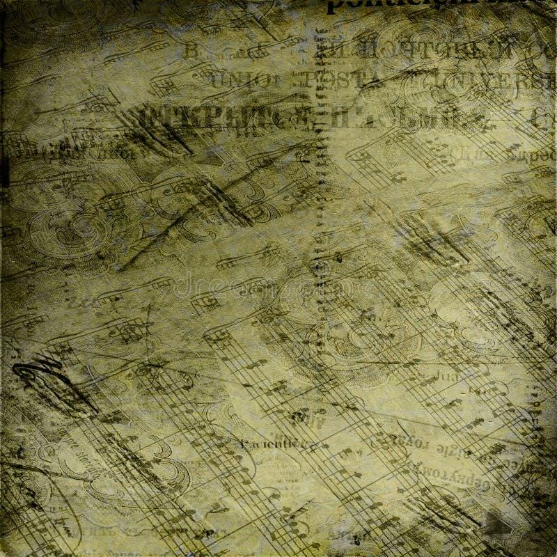абстрактная стародедовская предпосылка помечает буквами примечания иллюстрация вектора