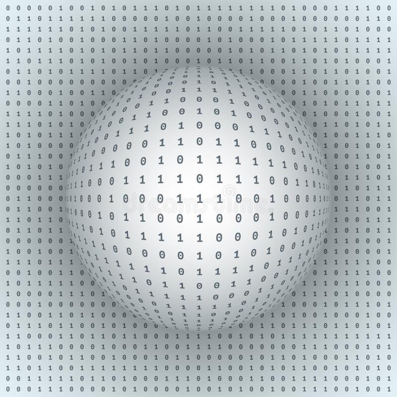 Абстрактная сфера на бинарной предпосылке бесплатная иллюстрация