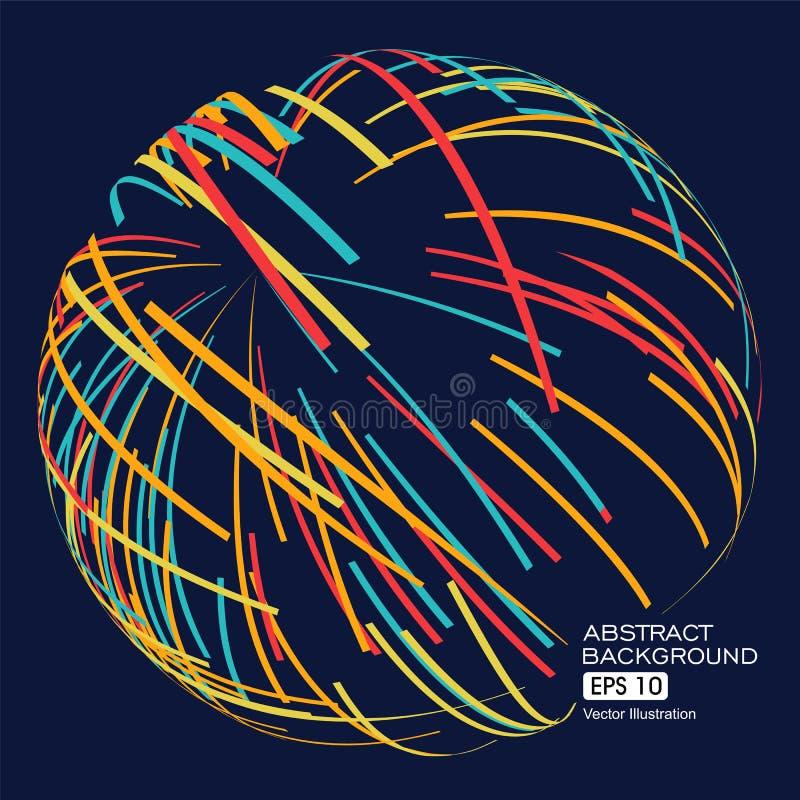 Абстрактная сфера, твердый шарик бесплатная иллюстрация